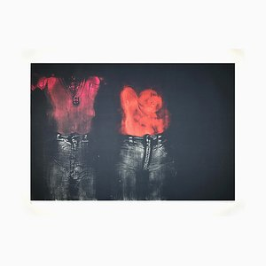George Segal - Two Figures Facing Front - Etching - 1976