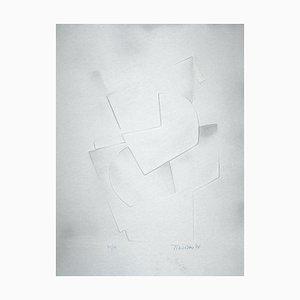 Gaufrage sur Aluminium - Hans Richter - Untitled - 1971