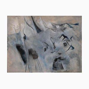 Giorgio Lo Fermo - Gray Composition - Oil Painting - 2020