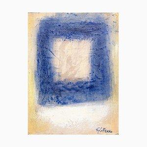 Giorgio Lo Fermo - Blue Square - Original Oil Paint - 2015