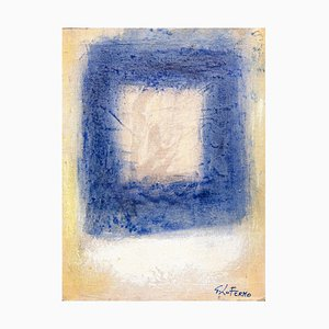 Giorgio Lo Fermo - Blue Square - Peinture à l'Huile Originale - 2015