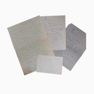 Luchino Visconti - Set of Autograph Letters - 1950s