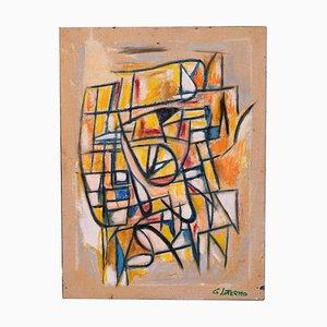 Giorgio Lo Fermo - Abstract Composition - Original Oil Paint - 2019