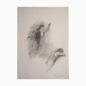 Andrea Fogli - Cupid and Psyche? - Original Pencil On Paper - 2007