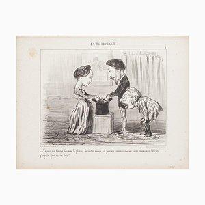 Honoré Daumier - Come, My Wife (...) - Original Lithographie - 1853