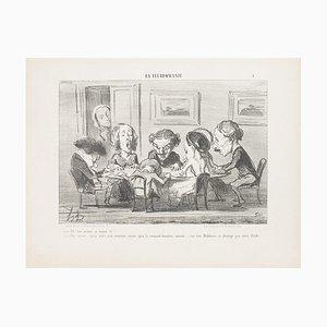 Honoré Daumier - Eh! ben, m'sieu, ça tourne t'y? - Original Lithographie - 1853