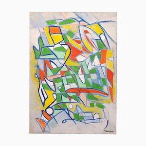 Giorgio Lo Fermo - Composition Abstraite - Peinture à l'Huile Originale - 2019