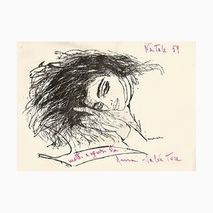 Anna Salvatore - Greeting Card with Drawing - 1959