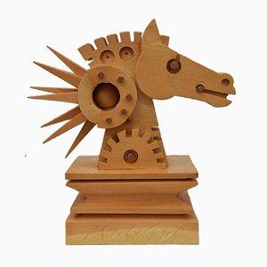 Ferdinand Codognotto - Horse - Original Wooden Sculpture - 2010