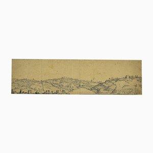 Jan Peter Verdussen - Landscape - Dessin au Plume Original - Mid-18th Century