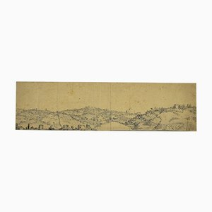 Jan Peter Verdussen - Landscape - Original Pencil Drawing - Mid-18th Century