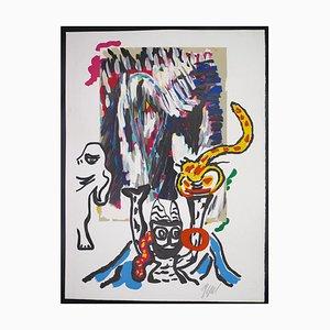 Karel Appel - Tntrik - Original Lithographie - 1985