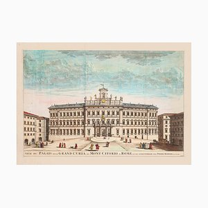 Pierre Mortier - Great Curia Palace - Original Etching - 17th Century