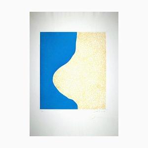 Giuseppe Santomaso - Nische Blau - Radierung - 1970