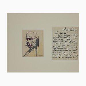 Mino Maccari - Portrait of Soffici and Letter To Mino Maccari - 1934