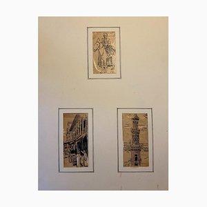 Gabriele Galantara - Travel To the East - Original Drawing - 1920s