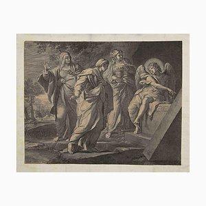 Hieronimus Trudon - the Resurrection - Original Etching On Paper - 16th Century