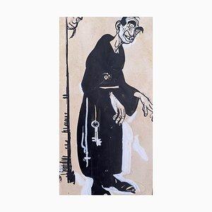 Gabriele Galantara - the Monk - Original China Tinte - 1910er