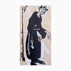 Inchiostro originale di Gabriele Galantara - the Monk - China 1910s