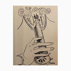 Man Ray - En Voi - Original Lithographie - 1964