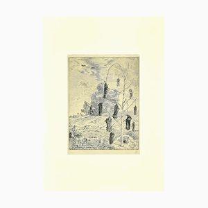 Félix Bracquemond - Les Taupes - Etching - 1854