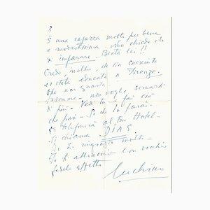 Luchino Visconti, Empfehlungsschreiben, 1950er
