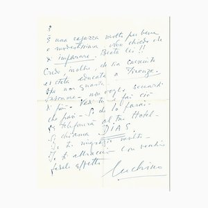 Luchino Visconti, Recommendation Letter, 1950s