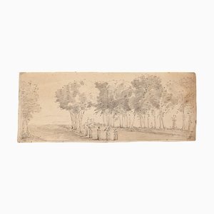 Jan Peter Verdussen - Paysage - Dessin Original - 1745 Ca
