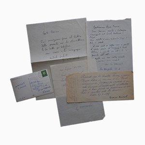 Giovanni Omiccioli - Set of Autographs to Silvio Perina - 1950s
