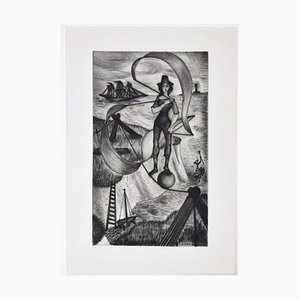 Rémy Hetreau - Figure - Etching - Late 20th-Century