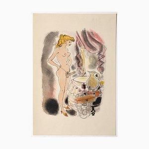 Mariette Lydis - Erotic Scene - Hand-Colored Lithograph - 1939