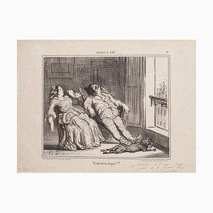 Honoré Daumier, Zweiunddreißig Grad, Lithographie, 1857