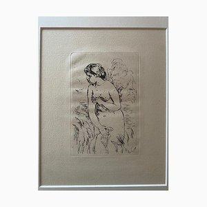 Pierre-Auguste Renoir - Aktbadende - Original Radierung - frühes 20. Jahrhundert