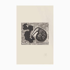 Mino Maccari, Dreamy, Woodcut on Paper, Mid-20thth Century
