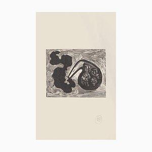 Mino Maccari, Dreamy, Xilografia su carta, metà XX secolo