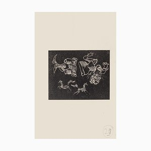 Mino Maccari, Dreamy, Holzschnitt auf Papier, Mitte 20. Jahrhundert