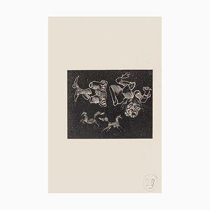Mino Maccari, Dreamy, Woodcut on Paper, Mid-20th Century