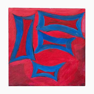 Giorgio Lo Fermo, Blue Minimalism, Oil Paint, 2020