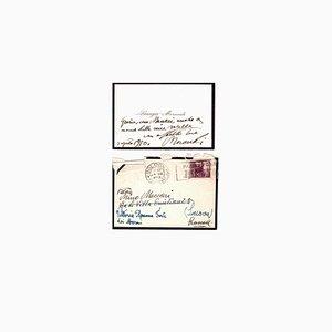 Giorgio Morandi, Brief von Giorgio Morandi an Mino Maccari, Mitte 20. Jahrhundert