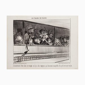 Honoré Daumier, The Disadvantage of Being In A Car, Lithograph, 1852