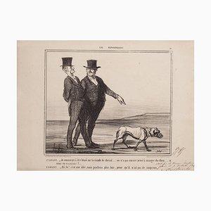 Honoré Daumier - Blasé sur la Viande de Cheval - Lithograph - 1856