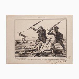 Honoré Daumier, Great Revolt of Rats (...), Lithograph, 1858