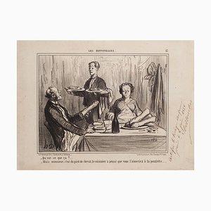 Honoré Daumier - Qu'est-ce-que ça? (...) - Lithographie - 1858