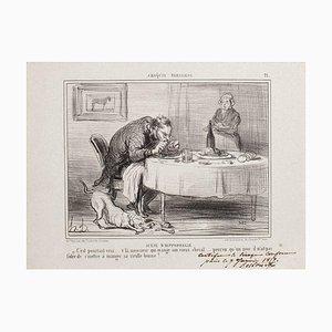 Honoré Daumier, Scêne D'Hippophagie, Lithografie, 1857