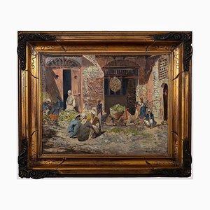 Paolo Minardi, orientalistischer Innenraum, Ölgemälde an Bord, 20. Jahrhundert