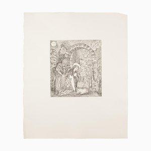 Gian Paolo Berto, Die Höhle von Bethlehem, Radierung auf Papier, 1976