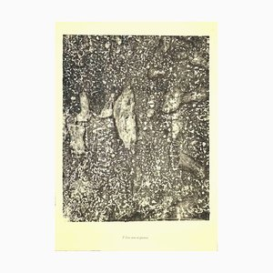 Jean Dubuffet, Living Water and Stones, Lithografie, 1950er