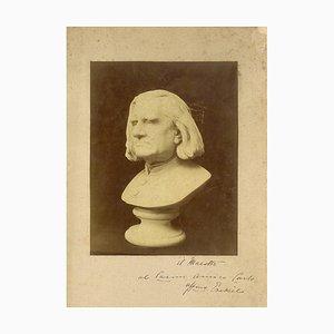 Moses Jacob Ezekiel, Bust of Franz Liszt, Photographic Print, 1880s