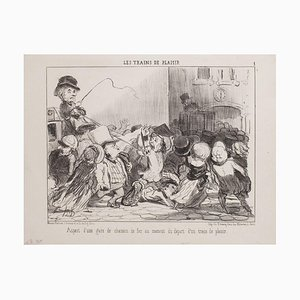 Honoré Daumier, Appearance of Station Railway, 1852