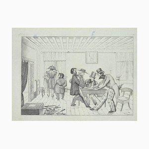 Unbekannt, Politische Diskussion, Lithografie auf Papier, 1850er